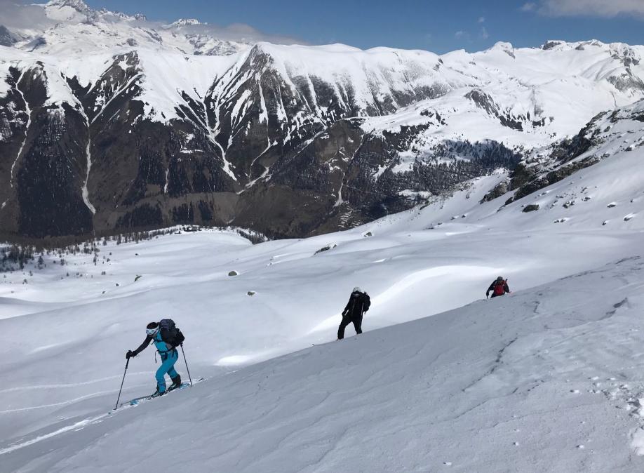 Ski touring in the Binntal Switzerland